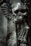 Sculpture sur le mur de la représentation de la mort Image libre de droits