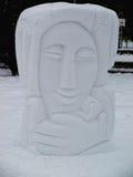 Sculpture sur neige Images stock