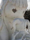 Sculpture sur neige en mère et en fille Photo stock