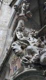 Sculpture sur Rathaus Image libre de droits