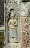 Sculpture at Ta Prohm Stock Photography