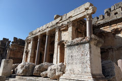 Sculpture of the Temple of Jupiter,Baalbeck Stock Photography