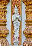 Sculpture,  temples in Thailand. Royalty Free Stock Photos