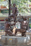 Sculpture Teshkoto Skopje Stock Photos