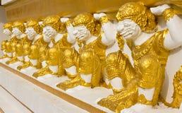 Sculpture thaïe en géants Images libres de droits