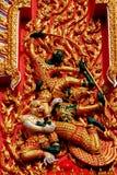 Sculpture thaïlandaise en Wat Photographie stock libre de droits