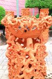 Sculpture of Thai earthenware pot Stock Images