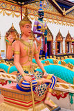 Sculpture at the Thai temple Wat Chayamangkalaram Stock Photography