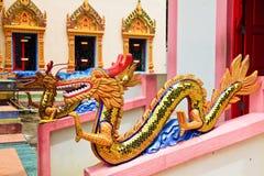 Sculpture at the Thai temple Wat Chayamangkalaram Stock Image