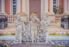 Sculpture of three angels Royalty Free Stock Image