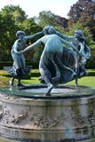 Sculpture of three dancing women. Royalty Free Stock Photo