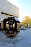 Sculpture titled 'Sphere within a sphere' Trinity college,Dublin,Ireland,Fall,2014 Royalty Free Stock Images
