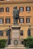 Sculpture to Silvio Spaventa in Rome, Italy Stock Photo