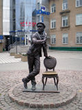 Sculpture  to soviet  personage. Sculpture  to soviet  cinema personage Ostap Bender in Melitopol Ukraine Stock Photos