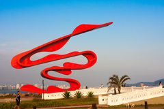 Sculpture by Tomie Ohtake, Santos, Brazil Stock Images