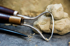 Sculpture tool. Closeup of the sculpture tool stock images