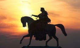 Sculpture on top of Wiener Staatsoper stock image