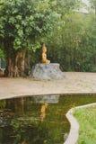 Sculpture traditionnelle de la Thaïlande Bouddha à Ayutthaya Images libres de droits