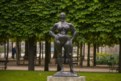 Sculpture in Tuileries Gardens Stock Photography