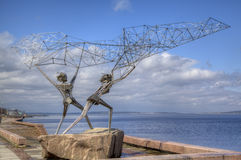 Sculpture of TWO FISHERMEN Royalty Free Stock Image