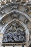 Sculpture of tympanum St. Vitus Cathedral Royalty Free Stock Photography