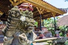 Sculpture in Ubud palace, Bali Stock Photos