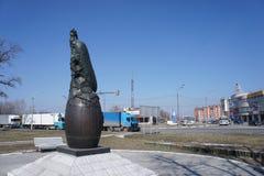Sculpture urbaine : le monument au concombre Images stock