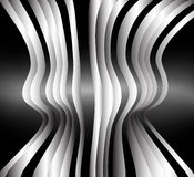 Sculpture, vector. Sculpture, abstract background with striped shape Stock Photography