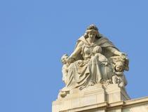 Sculpture On Victoria Memorial. Ancient sculpture on Victoria Memorial at Kolkata,India royalty free stock image