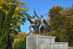 Sculpture Victory. Memorial to 1200 guards, Kaliningrad, Russia Stock Photo