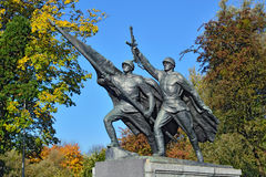 Sculpture Victory. Memorial to 1200 guards, Kaliningrad, Russia Stock Photography