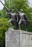 Sculpture Victory. Monument to 1200 guardsmen, Kaliningrad, Russ Royalty Free Stock Image