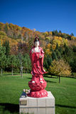 A sculpture in Vietnamese monastery.  Stock Image