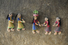 Sculpture  on a Village wall. Stock Photography