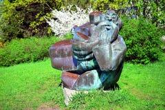 Sculpture in Vilnius city Karoliniskes residential district Stock Photos
