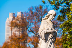 Sculpture of Virgin Mary on Oakland Cemetery, Atlanta, USA Royalty Free Stock Image