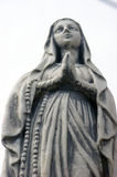 The sculpture of the Virgin Mary Royalty Free Stock Photo