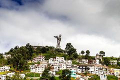 Sculpture of the Virgin in Panecillo Quito Ecuador Royalty Free Stock Photo