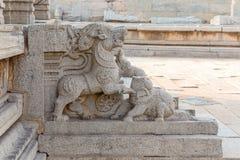 Sculpture in Vitthala temple gopuram, Hampi, Karnataka, India. Asia royalty free stock photos