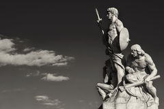 Sculpture vittoriano rome black and white Royalty Free Stock Photography