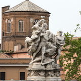 Sculpture at Vittorio Emanuele II Bridge, Stock Image