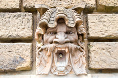 Sculpture on the wall of on water tower in Mannheim Stock Photos