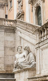 Sculpture at the walls of the Senate Palace. Capitol Royalty Free Stock Photos