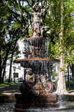 Sculpture of water fountain in the Eufrasio Correia square Stock Images