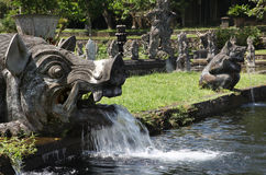Sculpture in the water Palace of Tirtagangga. Bali Royalty Free Stock Image