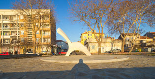 Sculpture on the waterfront in the town of Pomorie Royalty Free Stock Image