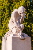 Sculpture of weeping woman on Oakland Cemetery, Atlanta, USA Royalty Free Stock Photography
