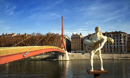 Sculpture of the Weight of oneself in Lyon, France Stock Photography