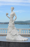 Sculpture of a white bride on the embankment of Gelendzhik, Russia Stock Image