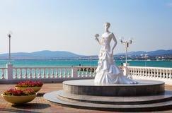 Sculpture White Bride of Gelendzhik in Russia Stock Photo